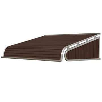 NuImage Awnings 84-in Wide x 42-in Projection Brown Solid Slope Door Awning