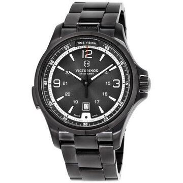 Victorinox Night Vision Black Dial Stainless Steel Men's Watch 241665