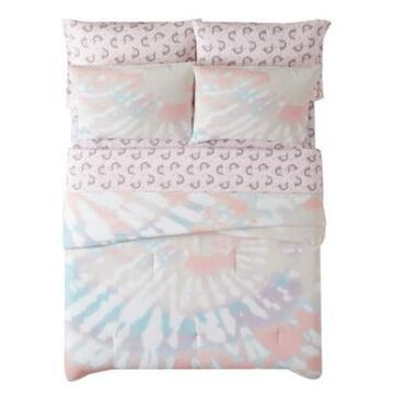 Material Girl Tie Dye Party 7 Piece Bed in a Bag, Full Bedding