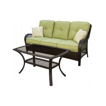 Hanover ORLEANS2PC Orleans Patio Seating Set, 2 Pieces (Sofa & Coffee