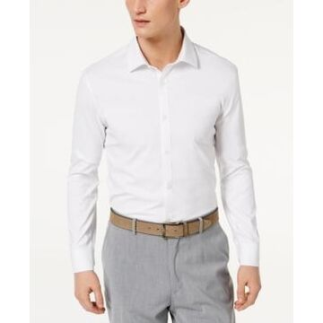 Ryan Seacrest Distinction Men's Ultimate Active Slim-Fit Non-Iron Performance Stretch Solid White Dress Shirt, Created for Macy's