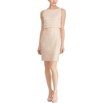 American Living Womens Cocktail Dress Lace Mini