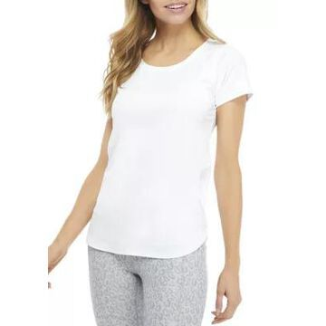 Rbx Women's Peached Interlock Short Sleeve Shirt - -