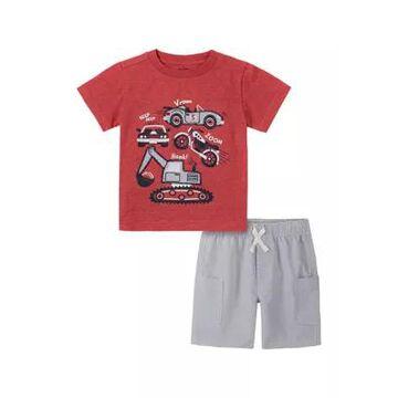 Kids Headquarters Boys' Baby Boys Short Sleeve Graphic T-Shirt And Shorts Set - -