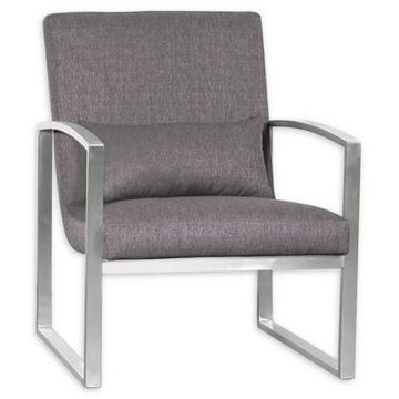 Armen Living Leonard Chair in Grey
