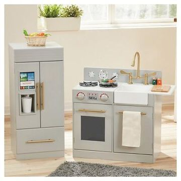 Teamson Kids Urban Adventure Play Kitchen - Gray