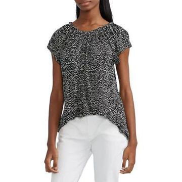 Chaps Women's Short Sleeve Dotted Top -