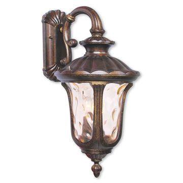 Livex Lighting Oxford 3-light Moroccan Gold Aluminum Outdoor Wall Lantern