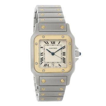 Cartier Men's W20011C4 'Santos' Two-Tone 18kt Gold and Stainless Steel Watch