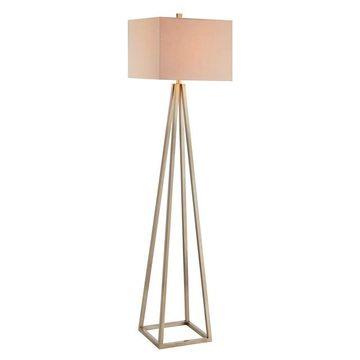 Catalina Lighting Gold Finish Geometric Floor Lamp