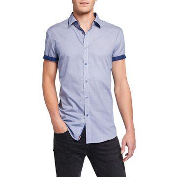 Men's Pindot Short-Sleeve Sport Shirt