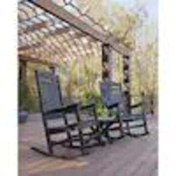 Trex Outdoor Furniture Yacht Club 2-Piece Black Plastic Frame Bistro Patio Set Bistro