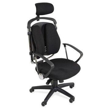 Balt Spine Align Executive Chair - Foam, Fabric Seat - Foam Back - 5-star Base - Black - 26'' Width x 21'' Depth x 44'' Height