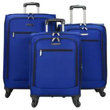 Traveler's Choice Lightweight Expandable 3-piece Spinner Luggage Set (Blue)