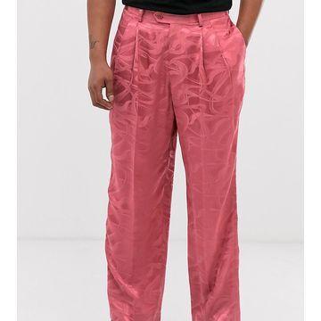 Heart & Dagger wide leg pants in pink texture