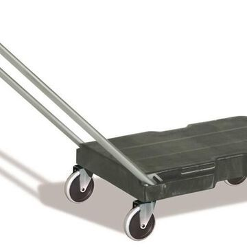 Rubbermaid 8916371 Triple Trolley with Handle, Black