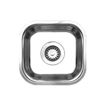 Whitehaus WHNU1212 Single Bowl Undermount Sink - Brushed Stainless Steel
