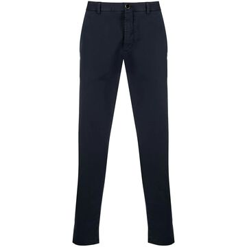 slim-cut cropped trousers