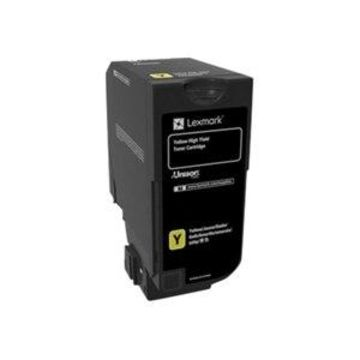 Lexmark - High Yield - yellow - original - toner cartridge LCCP - for Lexmark CS725de, CS725dte