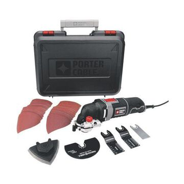 PORTER-CABLE PCE605K 3-Amp Corded Oscillating Multi-Tool Kit with 31 Accessor...