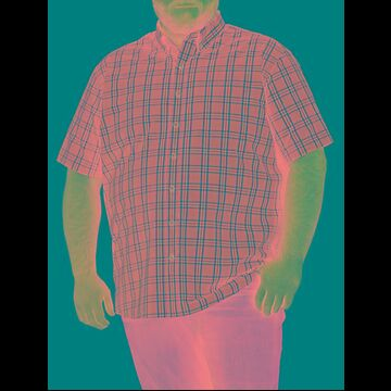 Big & Tall Harbor Bay Easy-Care Large Plaid Sport Shirt - Wineberry