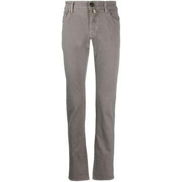 low-rise slim-fit jeans