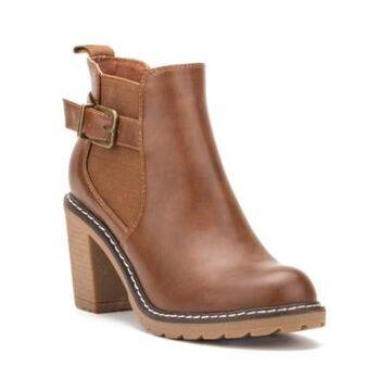 Olivia Miller Women's Hailey Chunky Heel Booties Women's Shoes