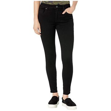 KUT from the Kloth Donna High-Rise Ankle Skinny Raw Hem in Black (Black) Women's Jeans