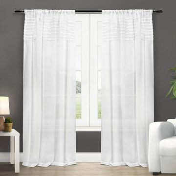 Exclusive Home Barcelona Sheer Window Curtains