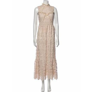 Lace Pattern Long Dress