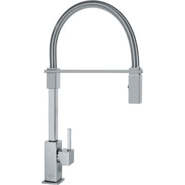 Franke Planar 8 Satin Nickel 1-Handle Pre-Rinse Kitchen Faucet