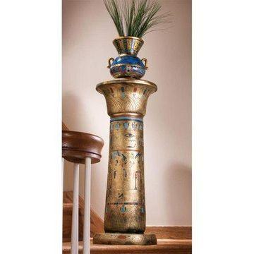 Design Toscano Golden Pedestal of the Egyptian Kings Sculptural Column