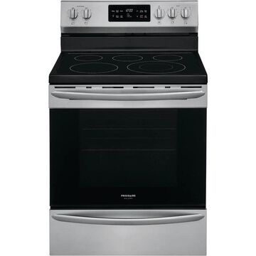 Frigidaire Gallery 30-in Smooth Surface 5 Elements 5.4-cu ft Self-Cleaning Convection Oven Freestanding Electric Range (Smudge-proof Stainless Steel)