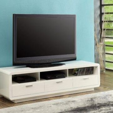 Benzara BM158730 Majestic TV Stand, White