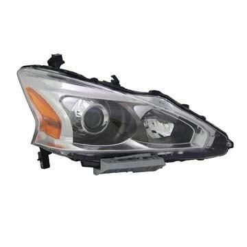 Headlight Depo - 13-15 Nissan Altima Sedan Head Lamp Assembly Halogen RIGHT HAND / PASSENGER SIDE CAPA Certified