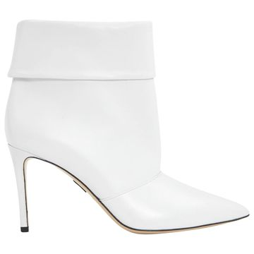 Paul Andrew White Leather Ankle boots