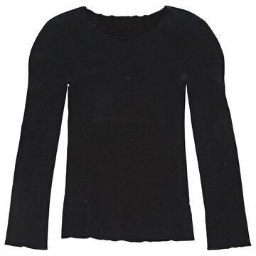 Issey Miyake Black Cotton Tops