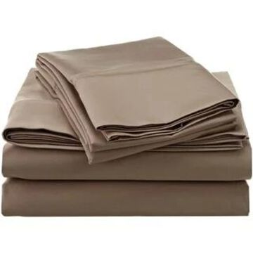 Superior Egyptian Cotton 1200 Thread Count Deep Pocket Bed Sheet Set (King - Taupe)