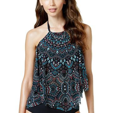 Coco Reef Womens Halter Fringe Tankini Swim Top