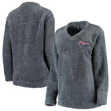 New England Patriots Concepts Sport Women's Trifecta Pullover Sweatshirt Charcoal