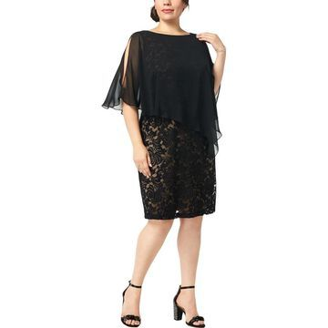 Connected Apparel Womens Plus Cocktail Dress Party Lace