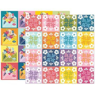 """Paige Evans Wonders Paper 22 Double-Sided 12"""" x 12"""" Cardstock, 25 Sheets By American Crafts 