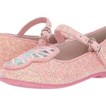 Sophia Webster Butterfly Ballerina (Little Kid/Big Kid) (Pink Glitter/Pearl) Women's Shoes