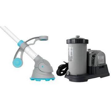 Intex Krystal Clear 2500 GPH Filter Pump | 28633EG & Kokido Automatic Vacuum