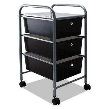 Advantus Portable Drawer Organizer 13w x 15 3/8d x 25 7/8h Smoke/Matte Gray
