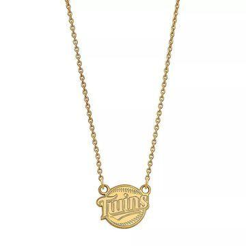LogoArt 10k Gold Minnesota Twins Small Pendant Necklace, Women's, Size: 13MM, Multicolor