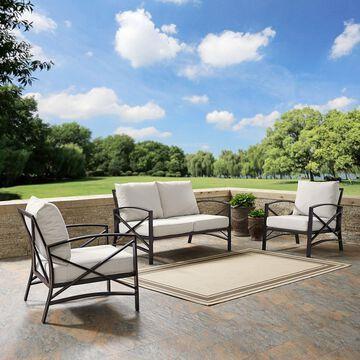 Crosley Furniture Kaplan 3-Piece Outdoor Seating Set