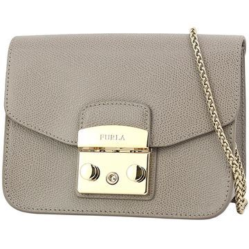 Furla Metropolis Beige Leather Handbags
