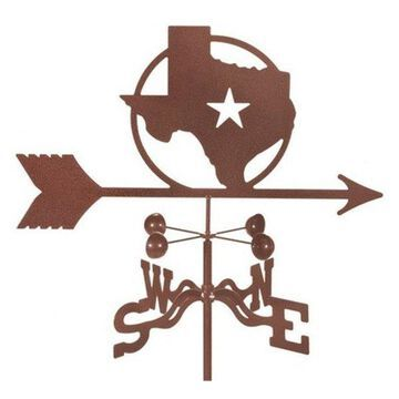 EZ Vane Texas Star Weathervane With Four Sided Mount