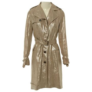 John Galliano Beige Linen Coats